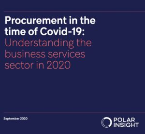 Front cover of the BSA/Polar Insight survey report on procurement